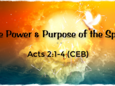 The Power & Purpose of the Spirit